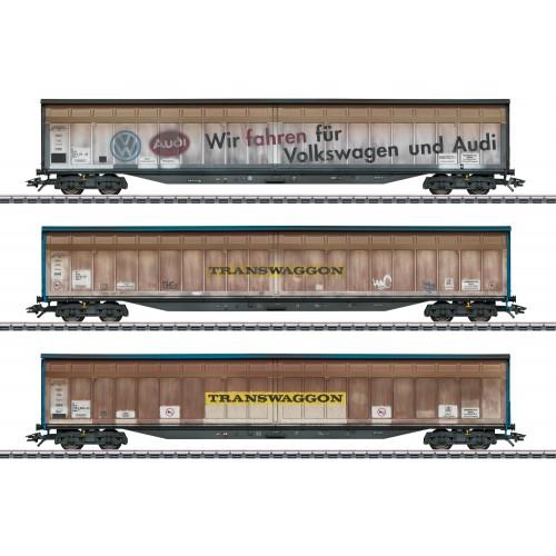 """48063 """"Transwaggon"""" Sliding Wall Boxcar Set"""