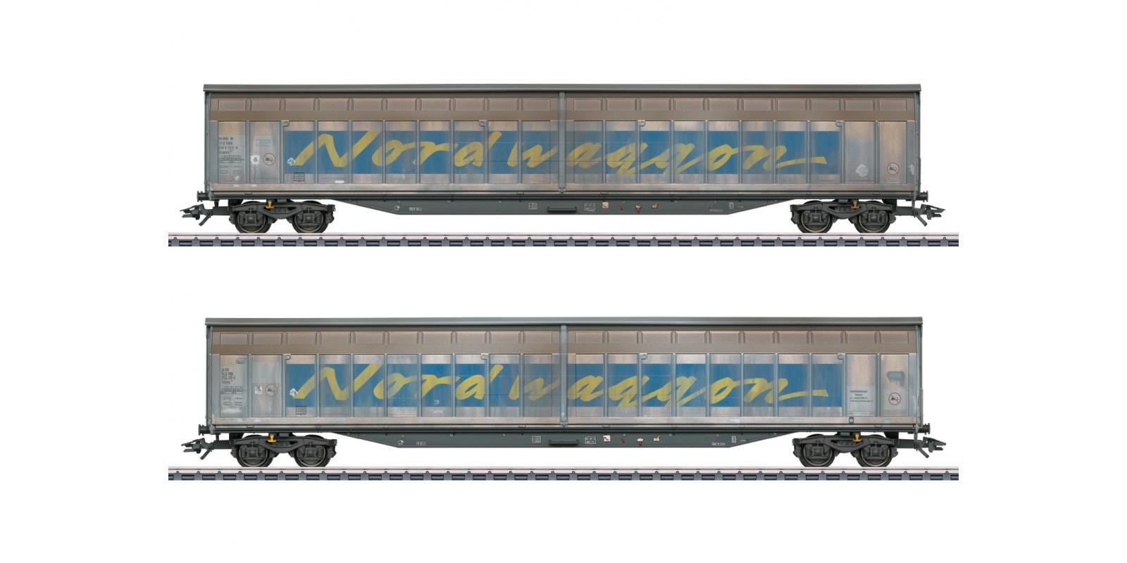 048065 Transwaggon Sliding Wall Boxcar Set
