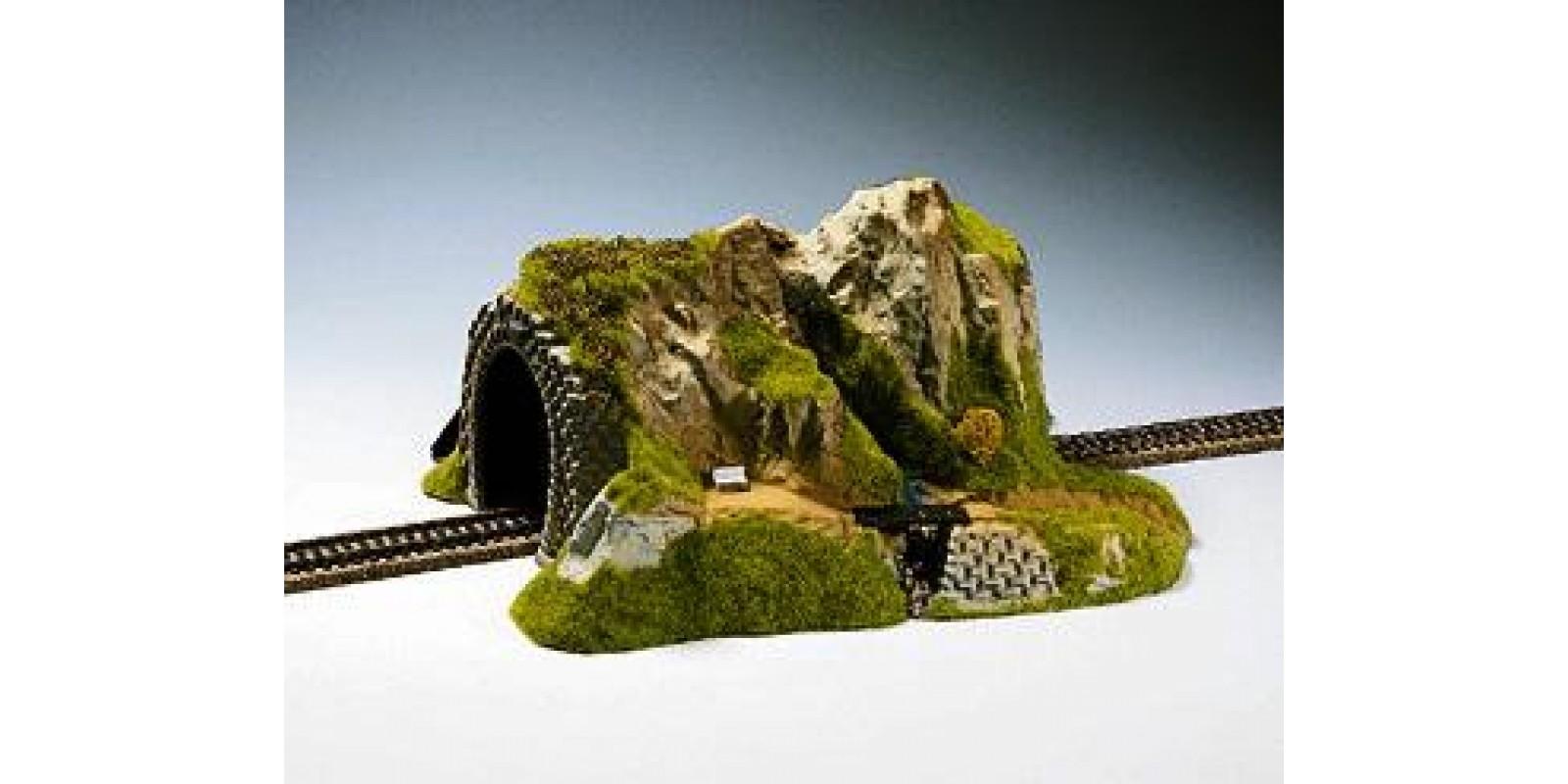 NO02200 Straight Tunnel, Single Track, 34 x 27 cm, 16 cm Height