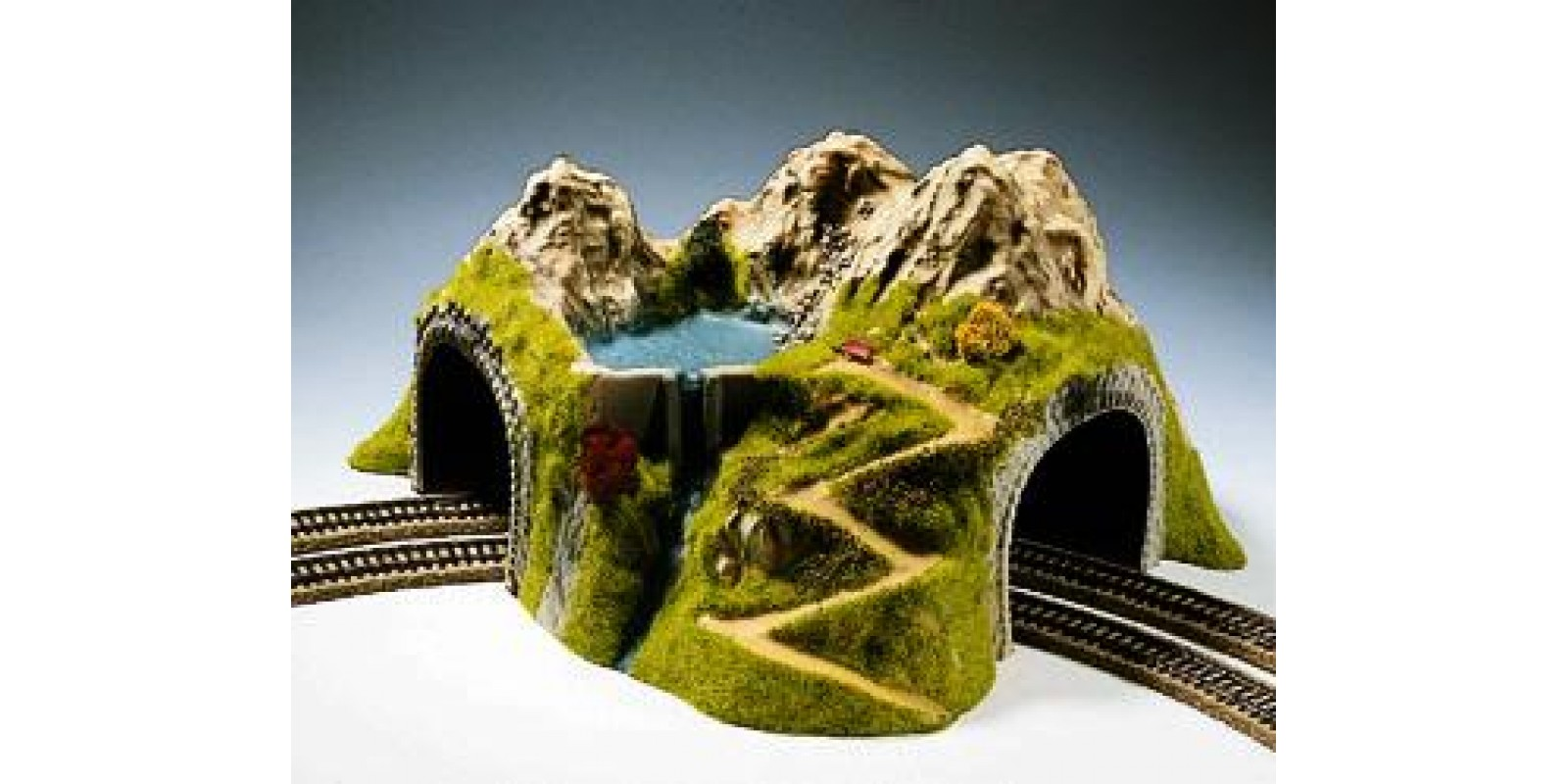 NO05180 Curved Tunnel, Double Track, 43 x 41 cm, 23 cm Height