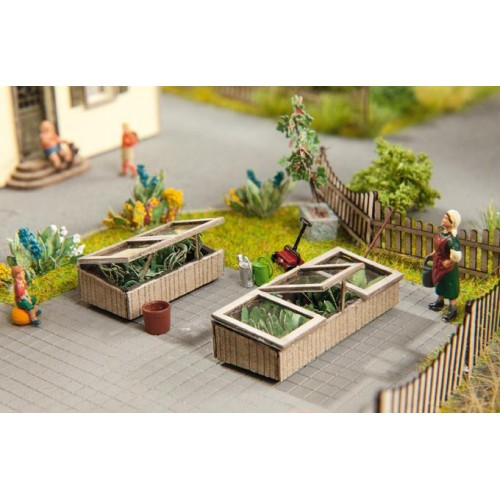 No14358 Cold Frames, 2 pcs., 4,0/2,6 cm x 1,6 cm, 1cm high