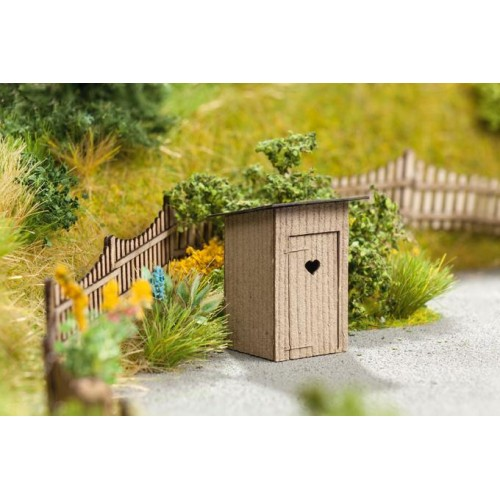 No14359 Outhouse, 2 pcs., 1,8 x 2,0 cm, 2,7 cm high