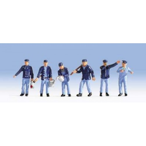 NO15282 Engine drivers & shunters, Epoch 3, H0, 6 figures
