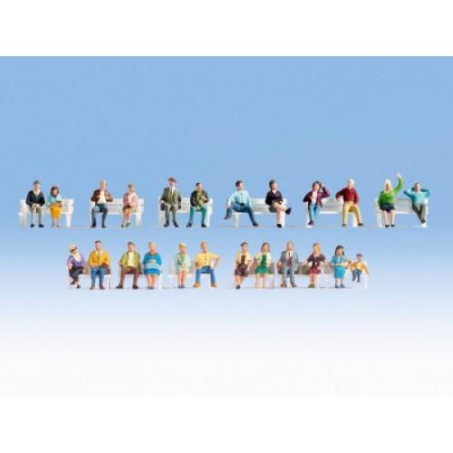 "NO16130 XL Figures Set ""Sitting People"""