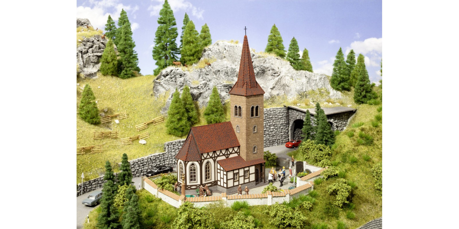 """NO66906 Church """"St George"""" with micro-sound Bell Ringing"""