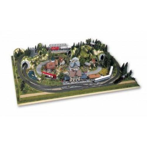 "No81600 Prefabricated Layout ""Rosenheim"", 160x100x23,5 cm"