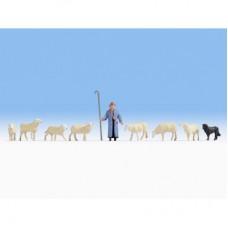 NO15748 Sheep and Shepherd