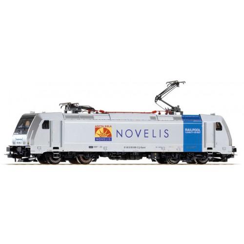 """PI59143 Elektrolokomotive BR 185 696-2 """"NOVELIS"""", Epoche VI, DC, analog"""