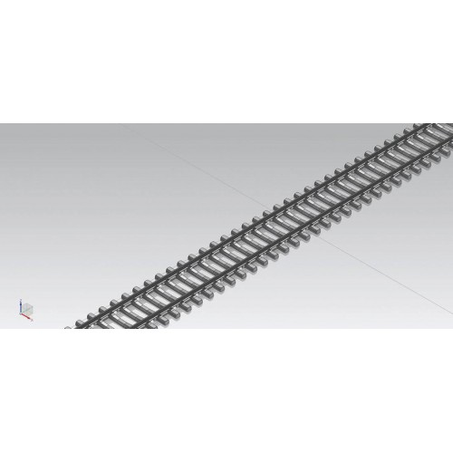 PI55150 Flex track G 940 mm, VE 24 with concrete sleepers