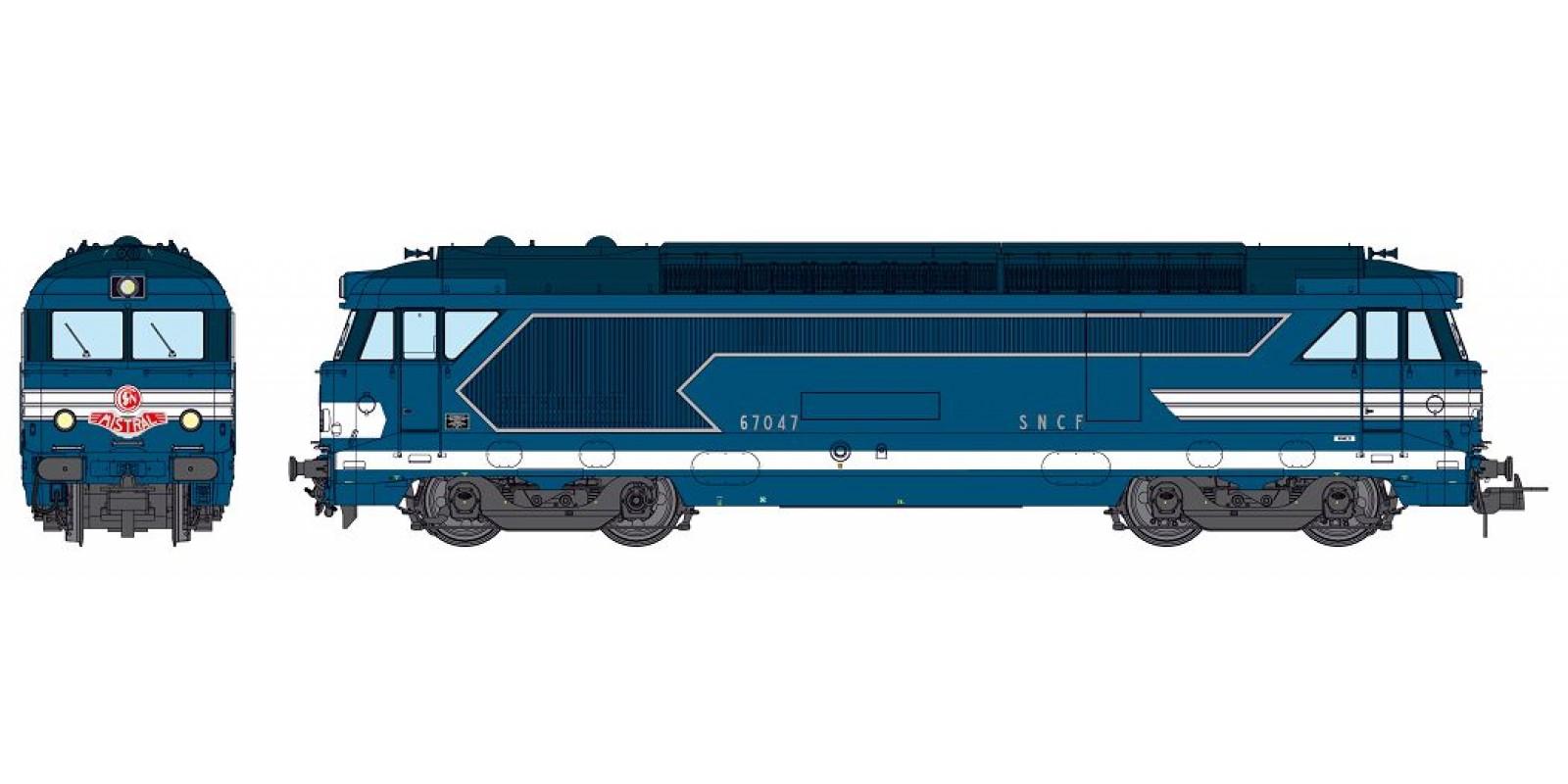 REMB150S BB 67047 Nîmes depot, original condition, « Mistral » train plate Ep.III-IV - DCC Sound & Smoke