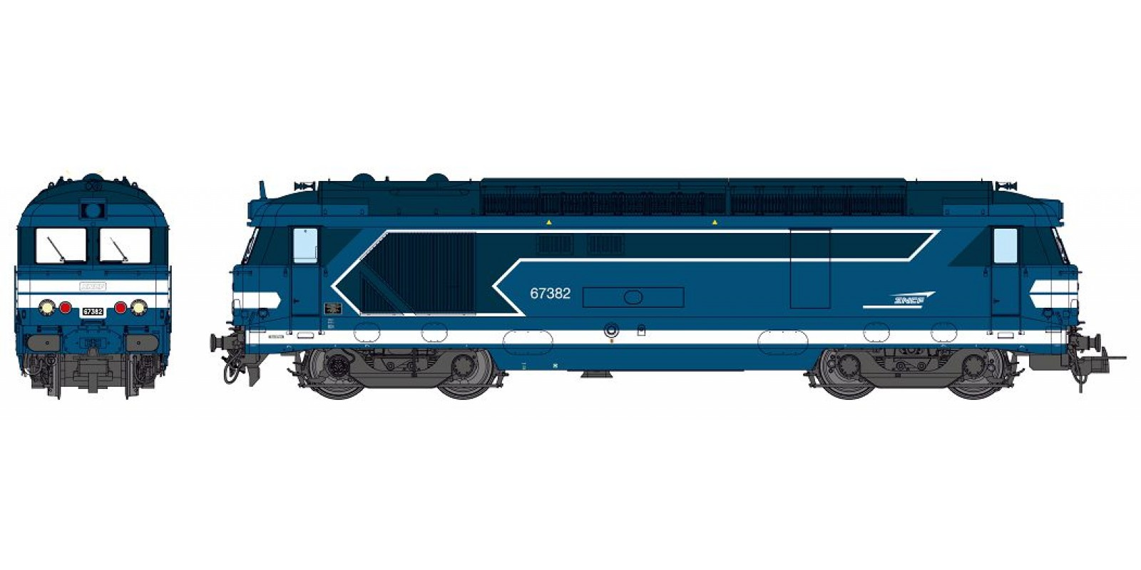REMB152S BB 67382 TOURS depot, modern body, Arrow SNCF Logo, Ep.V-VI - DCC Sound & Smoke