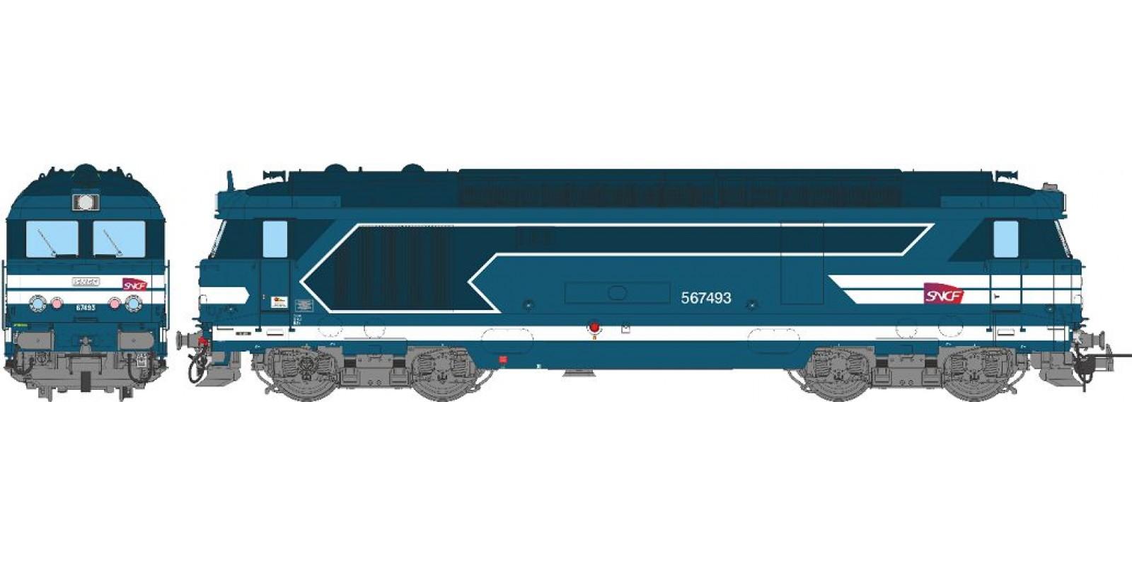 REMB100S BB 67493, MARSEILLE, Carmillon SNCF Logo Era V - DCC Sound & Smoke