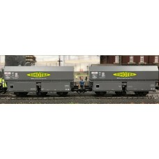 "REWB373 SET of 2 COKE MH45 ""Léonard"" Wheels, 3 axles wheels ""SIMOTRA"" Grey, black Frame Era III"