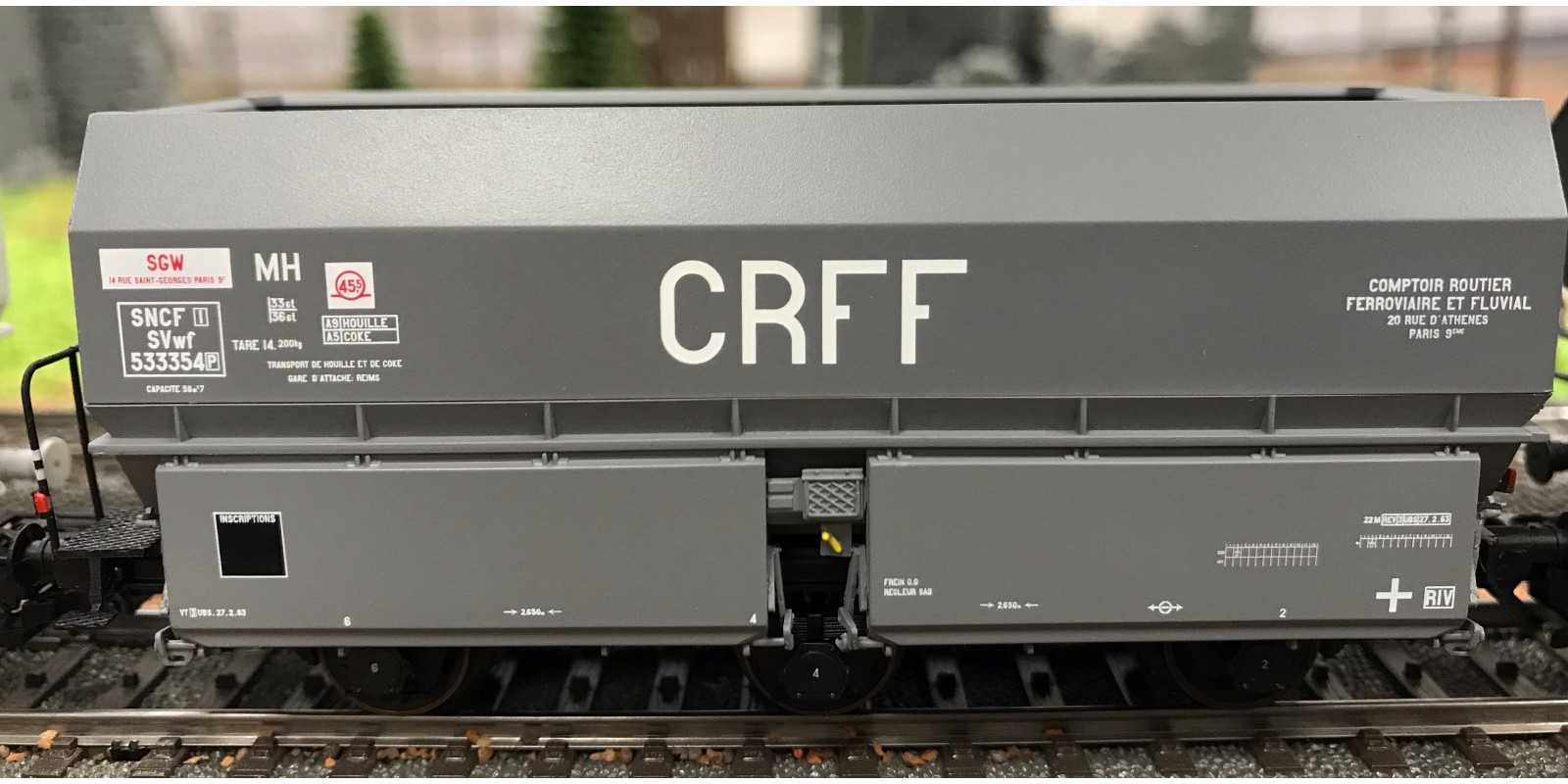 "REWB375 COKE MH45 ""Léonard"" Wheels, 3 axles wheels ""CRFF"" Grey, black Frame Era III"