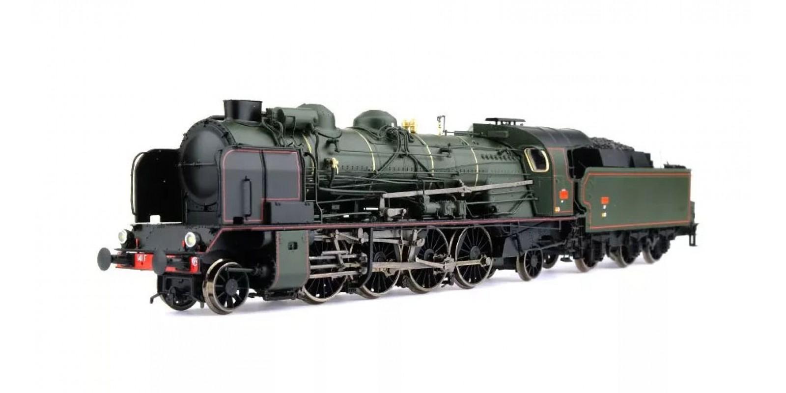 "REMB131SAC ""4-141 F 282 SNCF MONTLUÇON depot, ACFI water pump, 25 m³ 25 A 44 tender, preserved in  « La Cité du Train » MULHOUSE museum - AC Sound & Smoke (3 tracks)"""