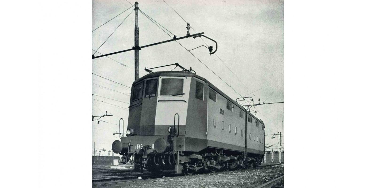 RI2739 FS, electric locomotive E 646 033 first series, castano / isabella livery, pantographs type 42U, period III-IV