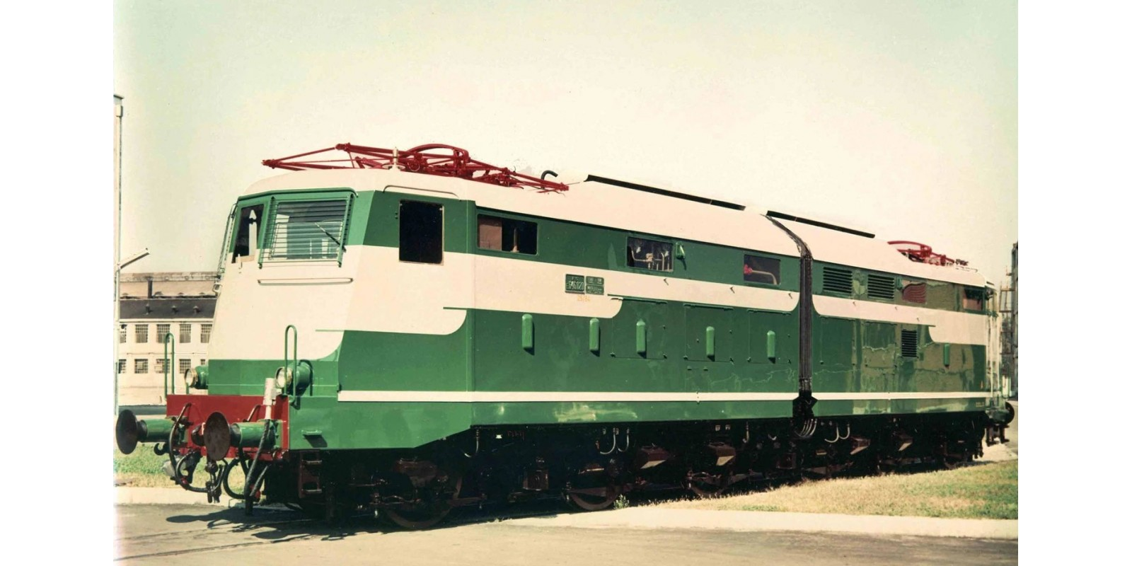 RI2740S FS, electric locomotive E 646 019 first series, verde magnolia / grigio nebbia livery, pantographs type 42LR, in original status, period III-IV, with DCC-sounddecoder