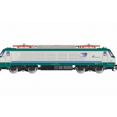 RI2766D FS, electric locomotive E 402A, XMPR livery, with front electric couplers for the control coach doors, period VI, with DCC-decoder