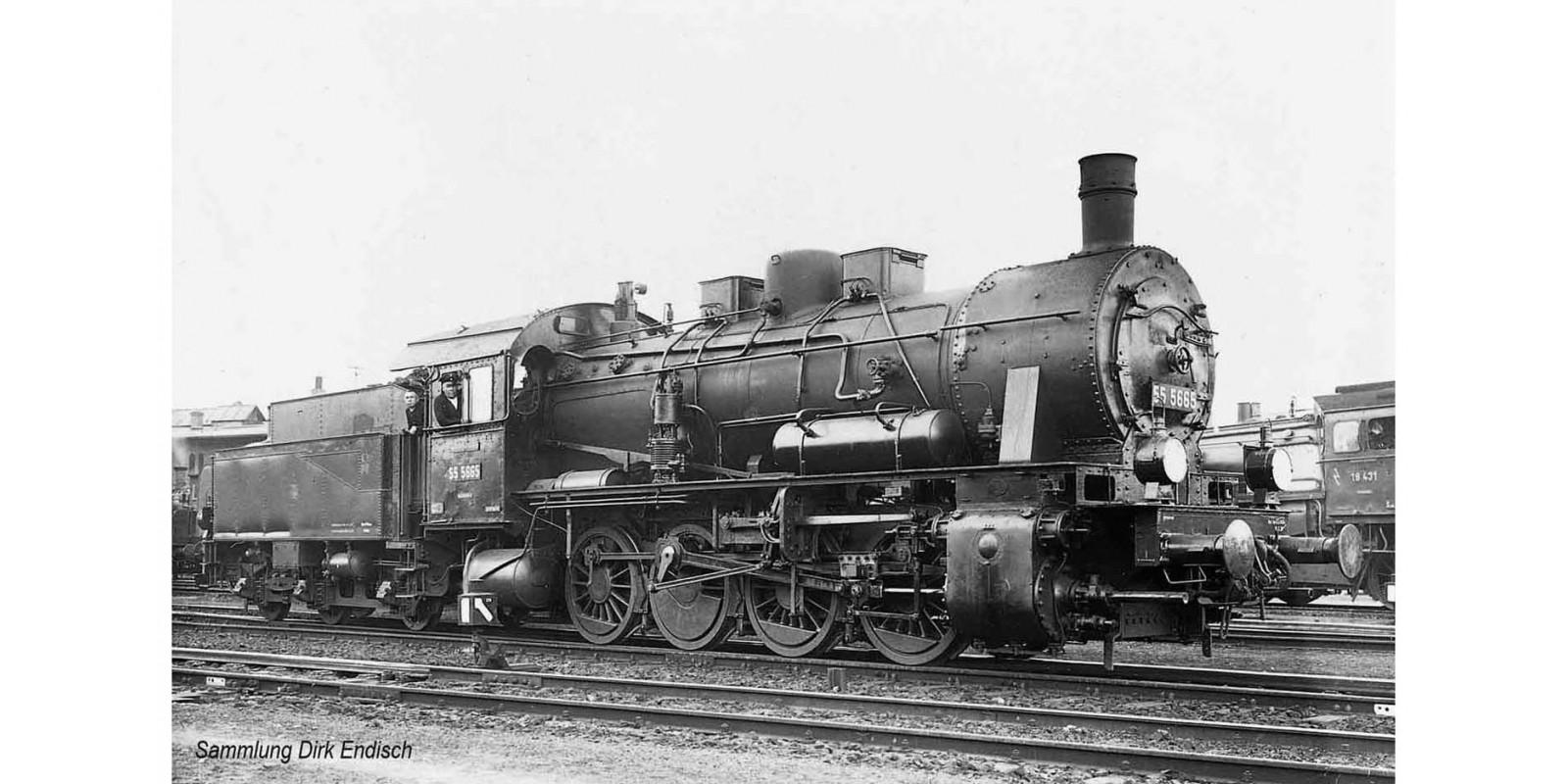 RI2808S DRG, BR 55.25 3-dome symetrical boiler, black livery, period II DCC Sound