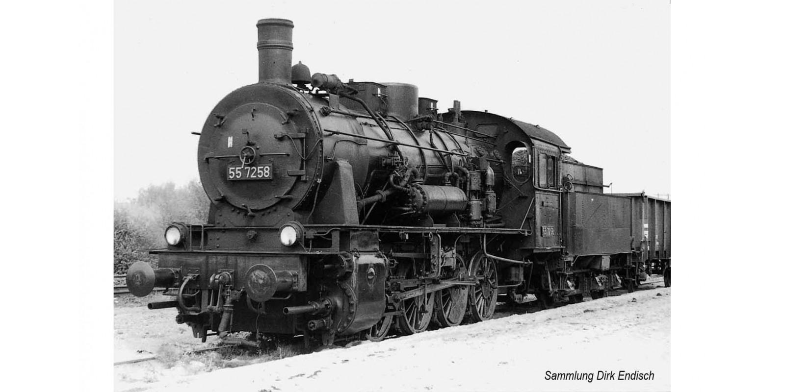 RI2810 DR, BR 55.25, 3-dome symetrical boiler, black livery, period IV