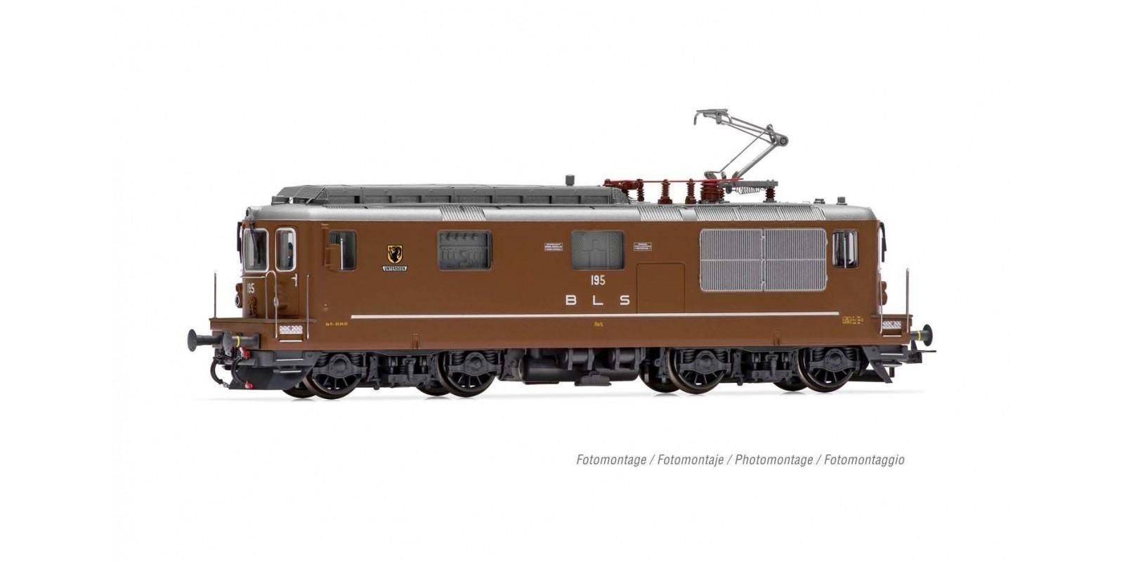 "RI2814S BLS, electric locomotive Re 4/4 195 ""Unterseen"", period V, with DCC sound decoder"