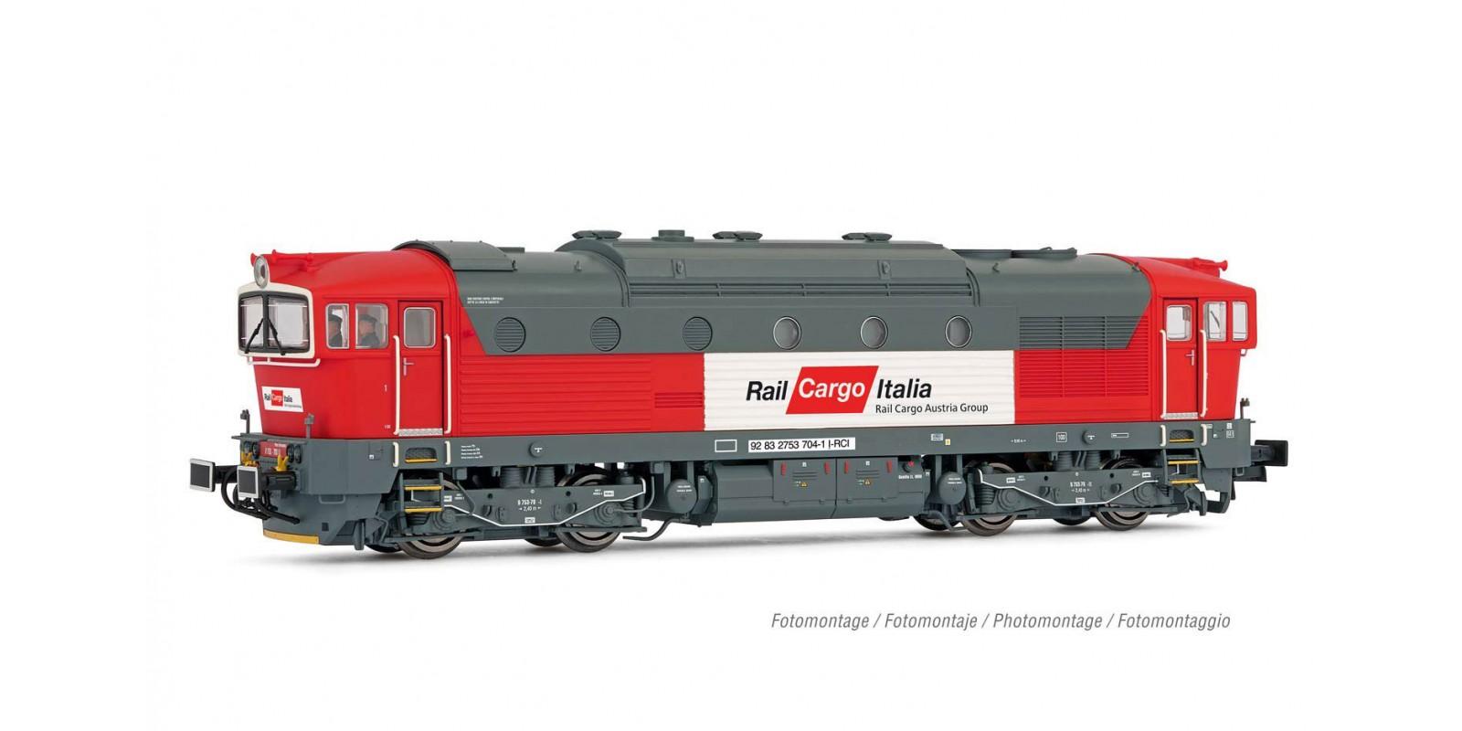 RI2863 Rail Cargo Italia, diesel locomotive class D753.7, red/light grey livery, period V-VI