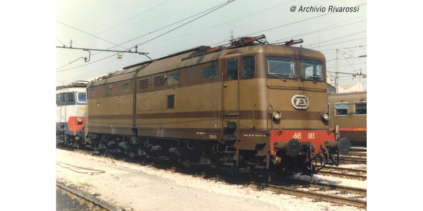 RI2872 FS, electric locomotive E.645 2nd series castano/isabella livery, original front windows, ep. IV-V