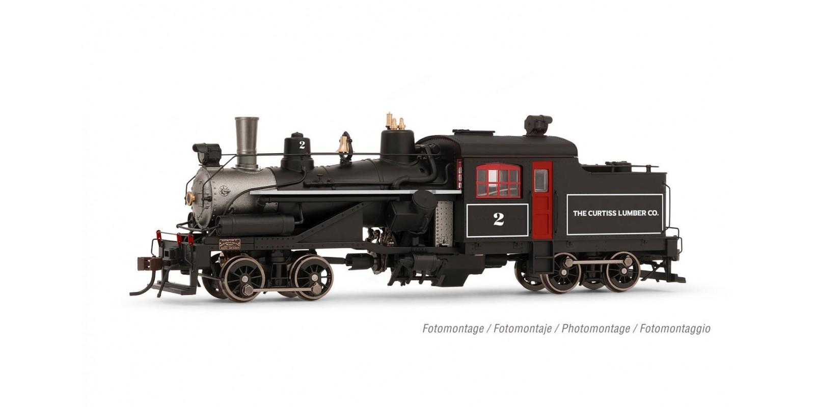 "RI2882 Heisler steam locomotive, 2 trucks ""The Curtis Lumber Co."" no. 2"