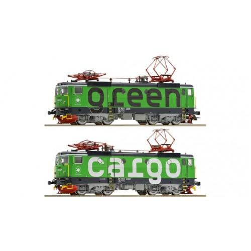 RO73457 - 2-piece set electric locomotive Rc4 Green Cargo, SJ