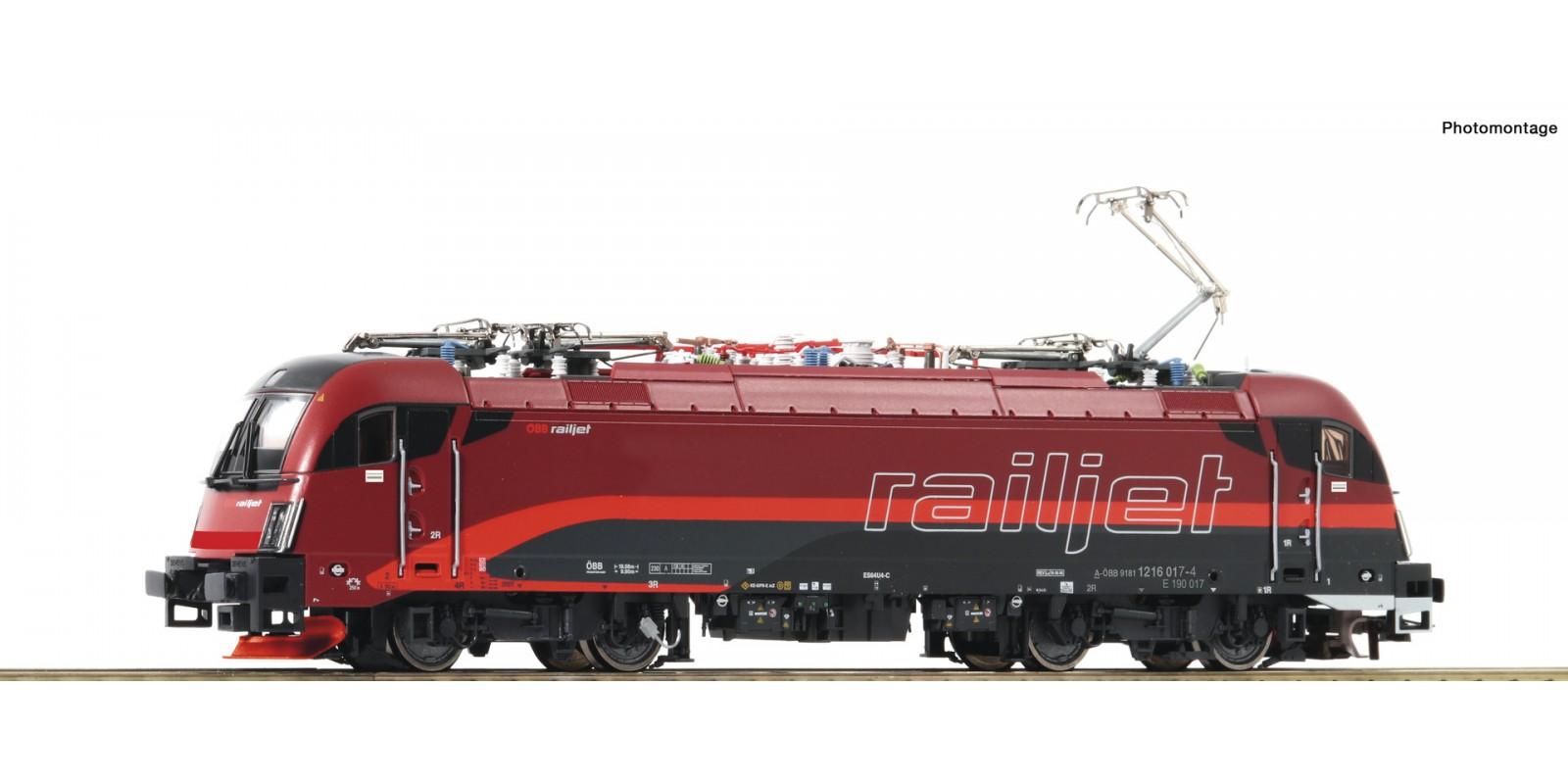 "RO73248 - Electric locomotive 1216 017-4 ""Railjet"", ÖBB"