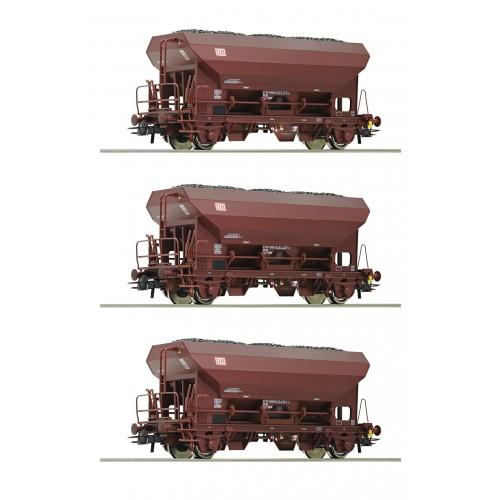 RO76170 - 3 piece set self unloading hopper wagons, DB AG