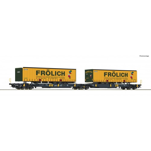 RO76431 - Articulated double pocket wagon