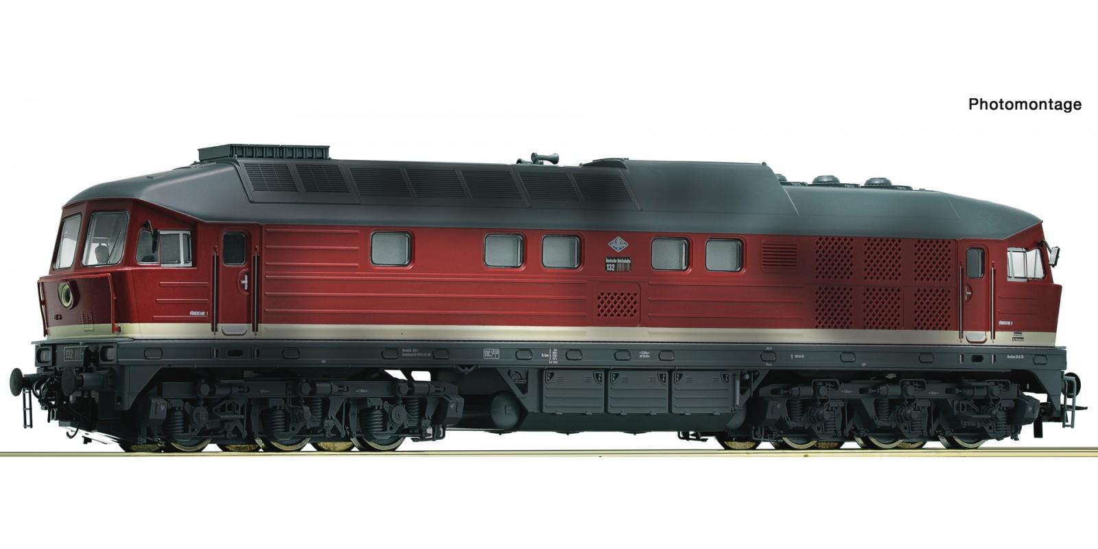 RO52498 Diesellok BR 132 DR gealt.