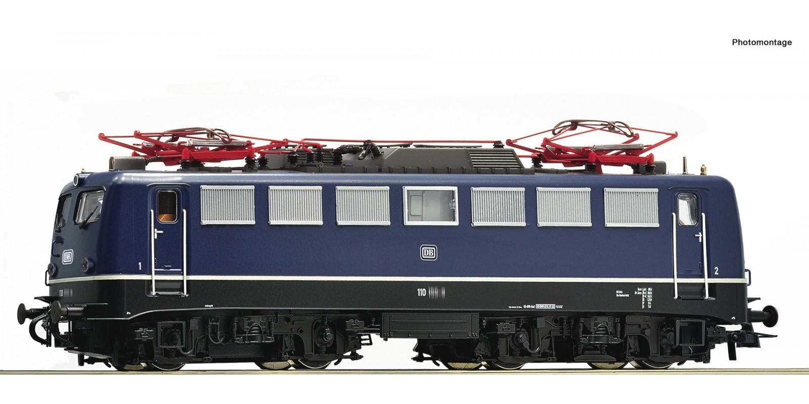 RO79075 E-Lok BR 110.1 DB blau AC-Snd.