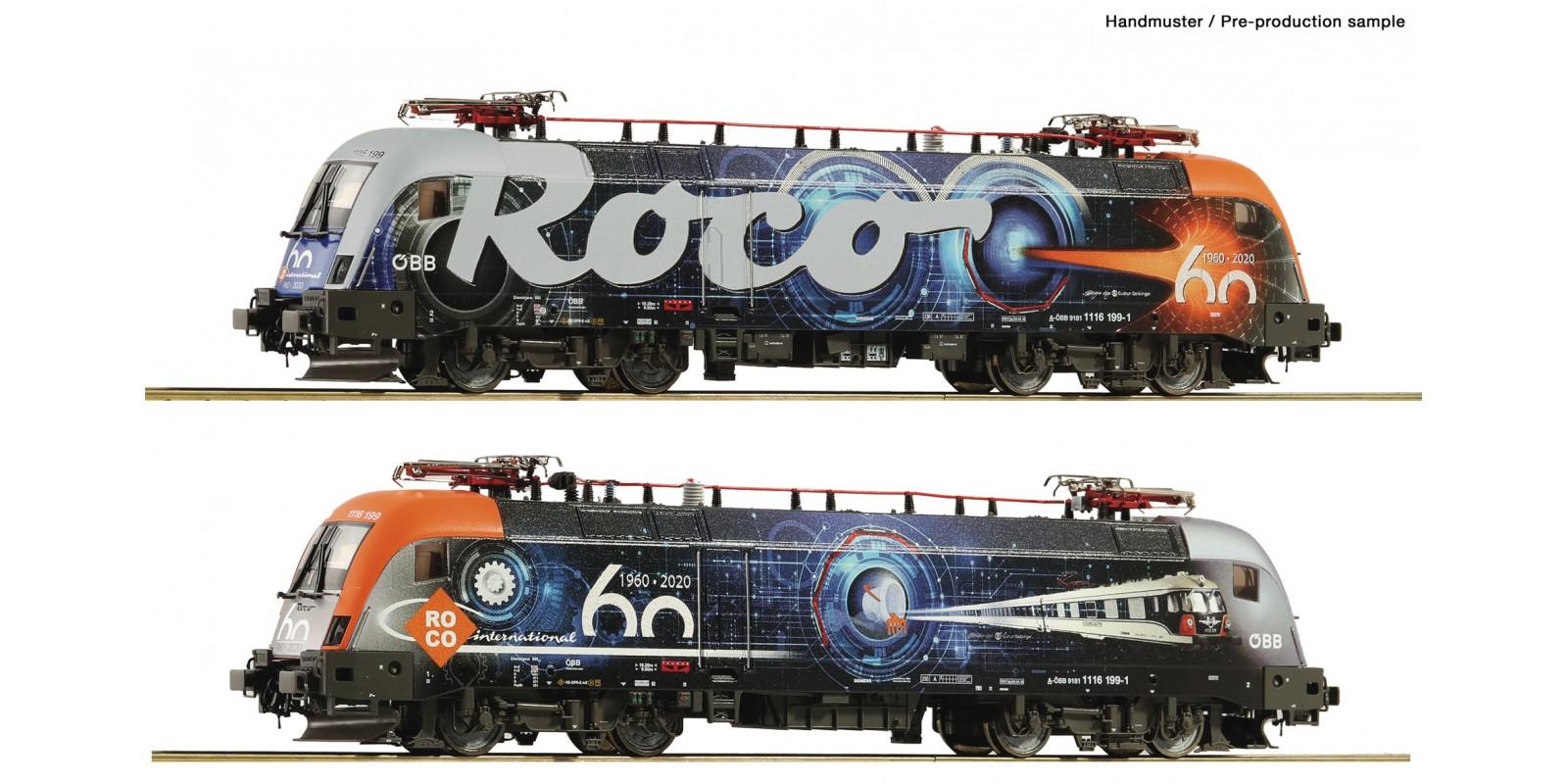 RO78486 E-Lok Rh 1116 60 Jahre Roco