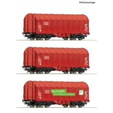 RO76011 3 piece set: Sliding tarpaulin wagons
