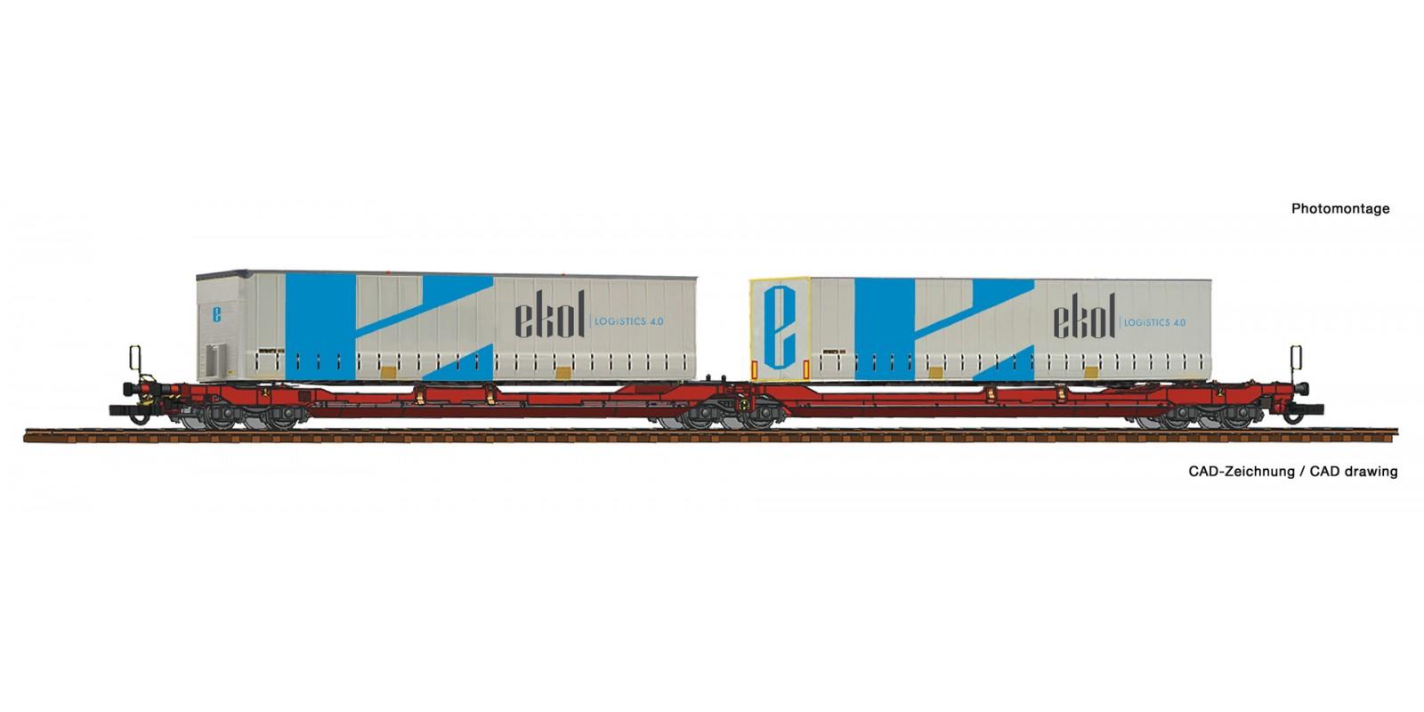 RO77386 Articulated double pocket wagon T3000e + Ekol