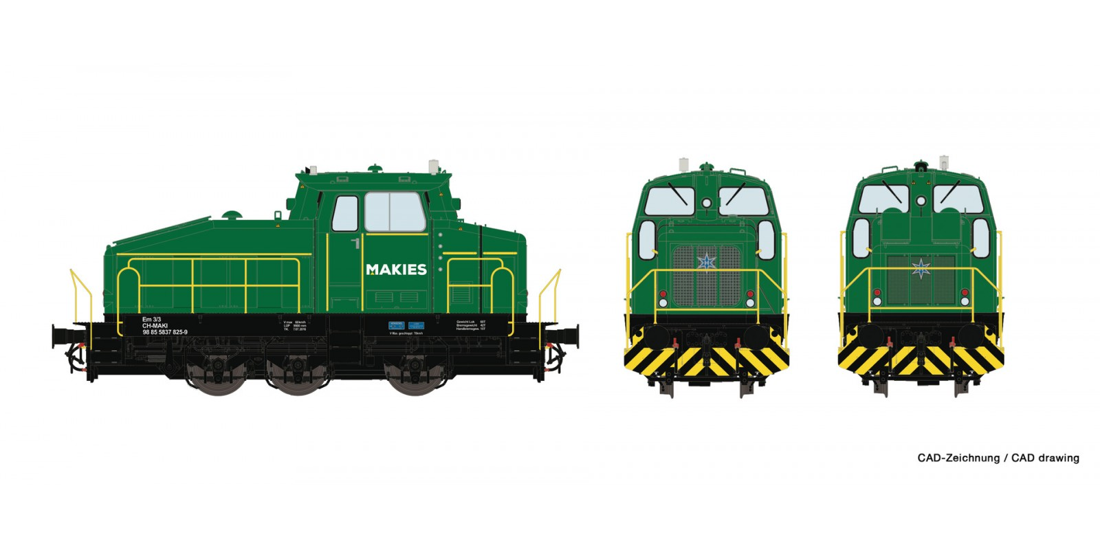 RO78180 Diesel locomotive Em 3/3