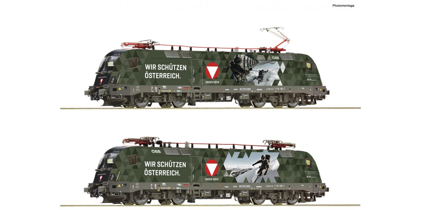 """RO78492 Electric locomotive 1116 182-7 """"Bundesheer"""""""
