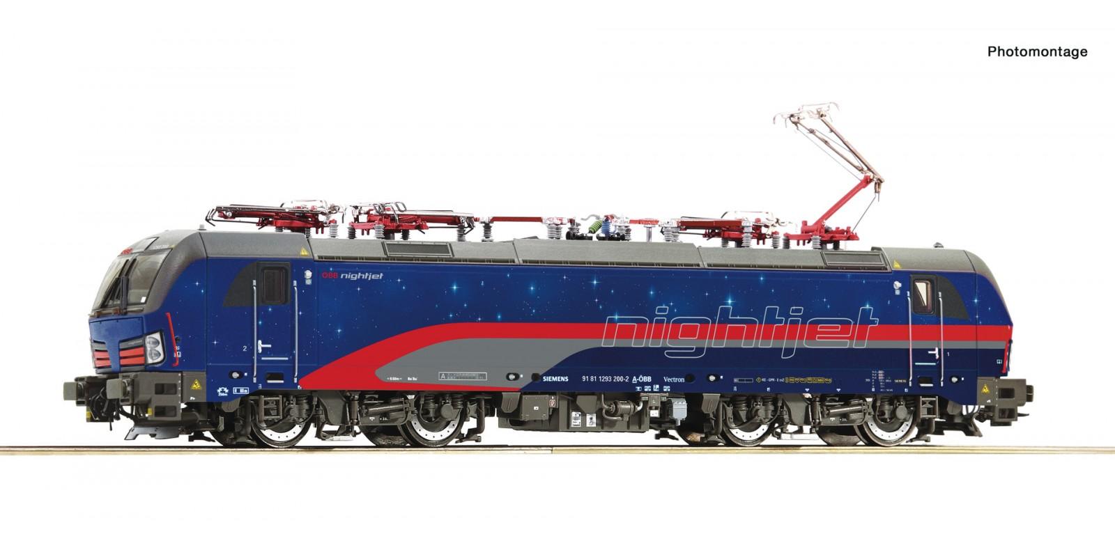 "RO79976 - Electric locomotive 1293 200-2 ""Nightjet"", ÖBB"