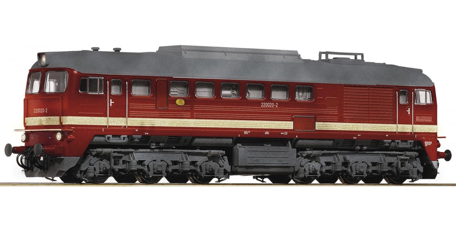 Ro72687 Diesel locomotive 220 020-2, DB AG converted for AC/Märklin with Sound