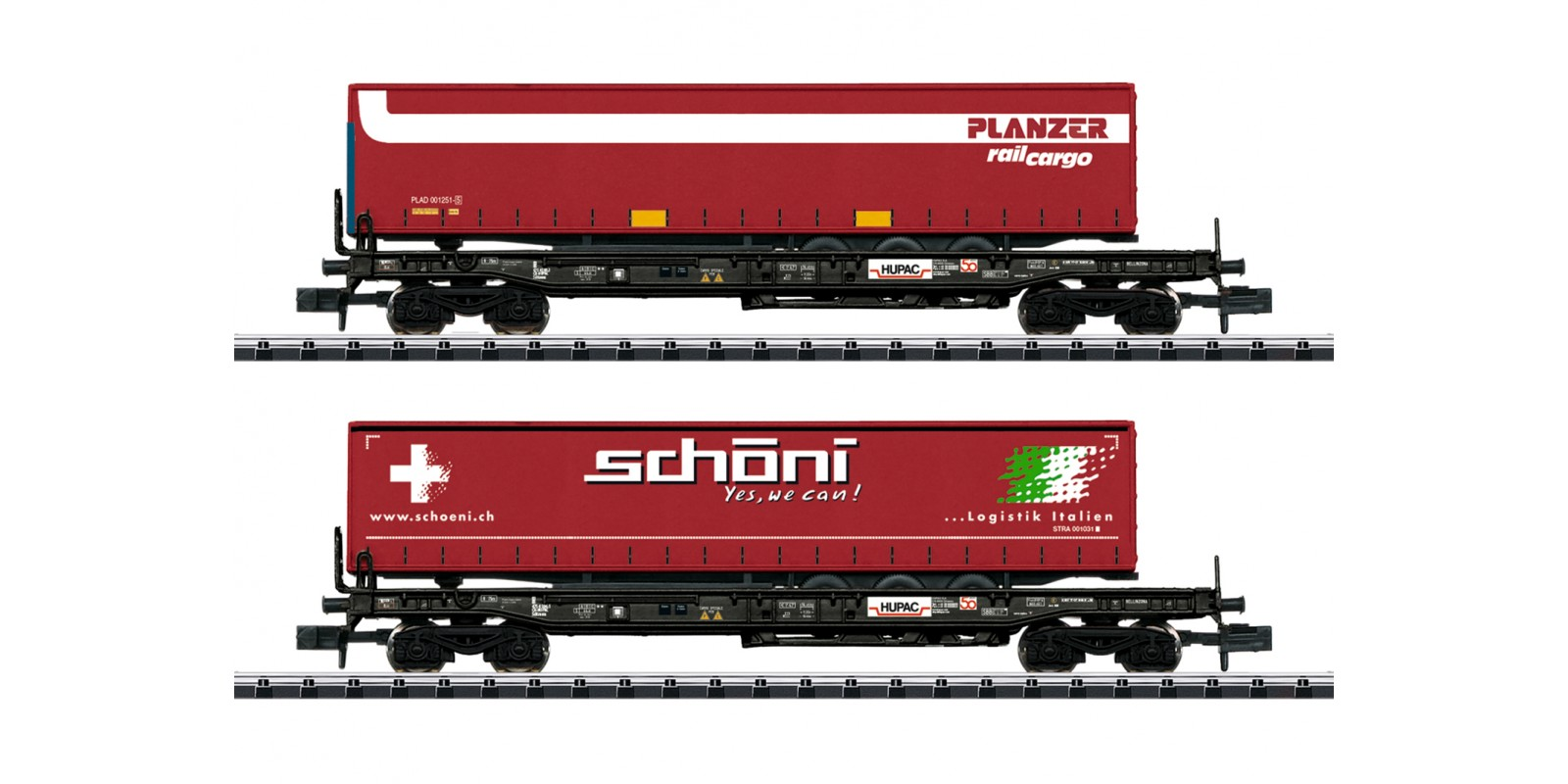 T18706 HUPAC Deep Well Flat Car Set