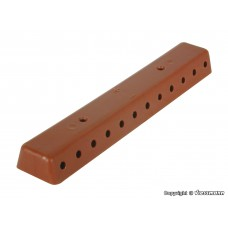 VI6843 Rail brown with screws, 2 pieces