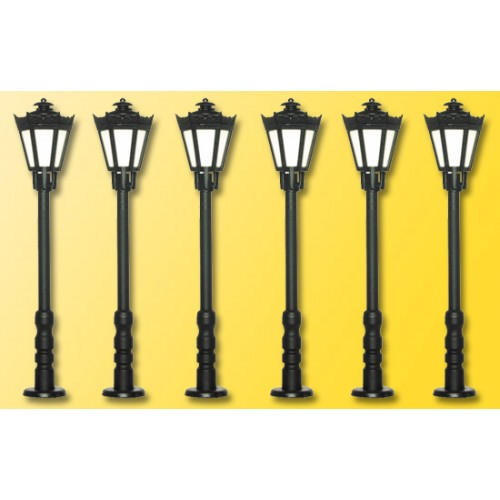 Vi60706 Park Lamp Set black 5+1 H0