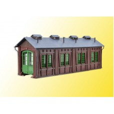 VO45763 H0 Loco shed with door lock mechanism, single track