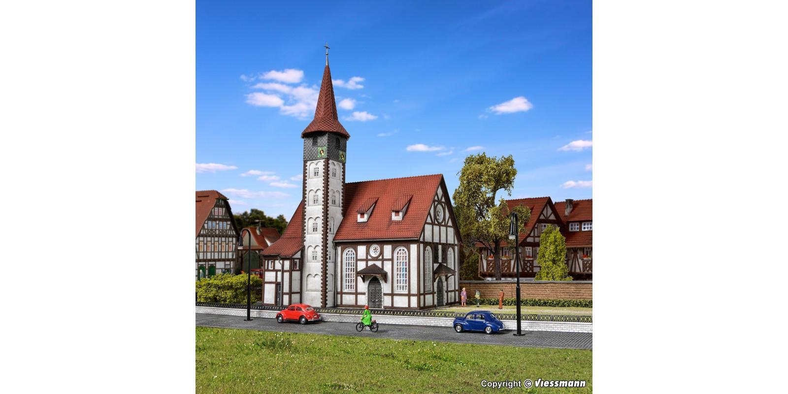 VO43768 H0 Half-timbered church Altbach