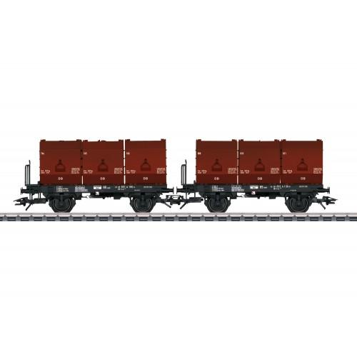 "T24177 ""3 Tubs"" Coking Coal Tub Transport Car Set"